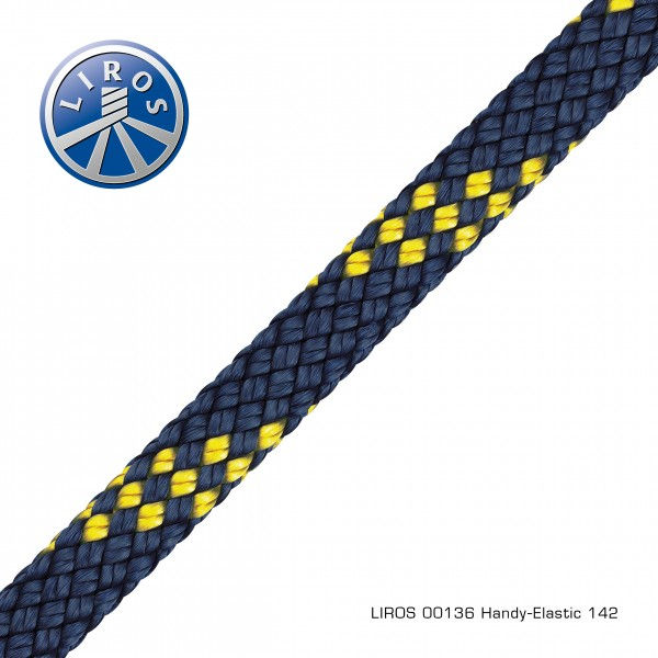 LIROS Handy-Elastic, 12mm, marine-gelb