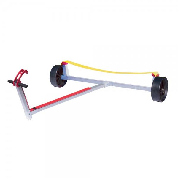Optiparts Slipwagen mit Vollgummirädern und breiter Gurtauflage
