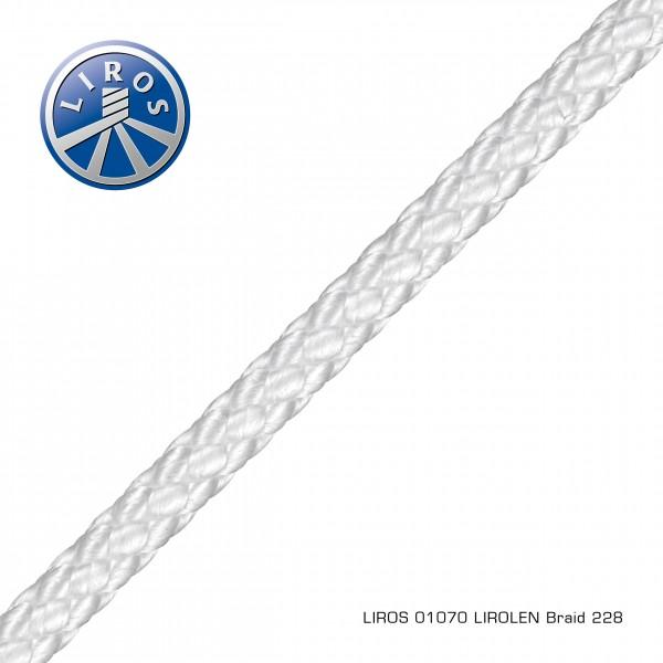 LIROS LIROLEN Flechtleine 4mm, weiß