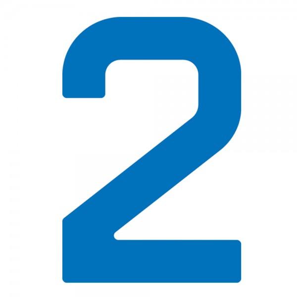 Segelnummern und -buchstaben für Optimist Blau