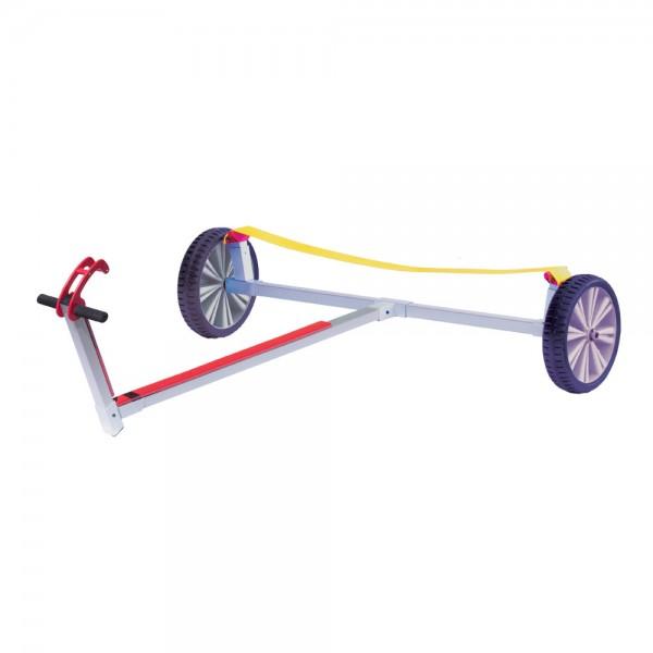 Optiparts Slipwagen mit breitem Auflagegurt und Optiflex-Lite Rädern