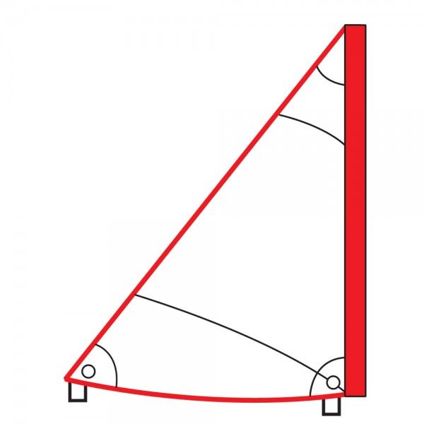 Dreieckssegel für Trainings- und Schulzwecke