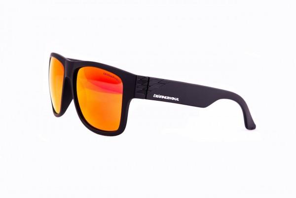 """Lifestyle Sonnenbrille HARPER """"Raven Black"""", rot/orange verspiegelte Gläser"""