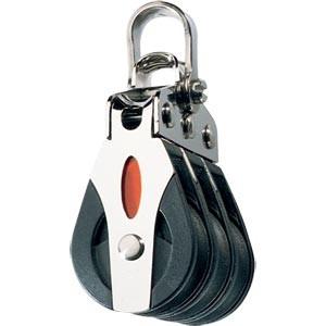 Ronstan 20mm Block, dreischeibig mit Schäkel