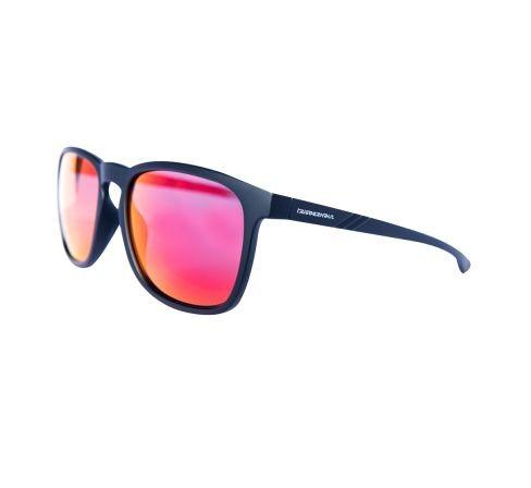 """Lifestyle Sonnenbrille REES """"Raven Black"""", rot verspiegelte Gläser"""