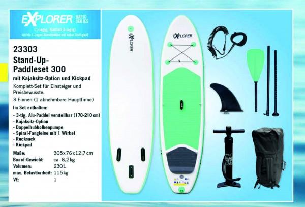 EXPLORER Stand-Up-Paddleset 300, Allroundboard für Einsteiger und Preisbewusste