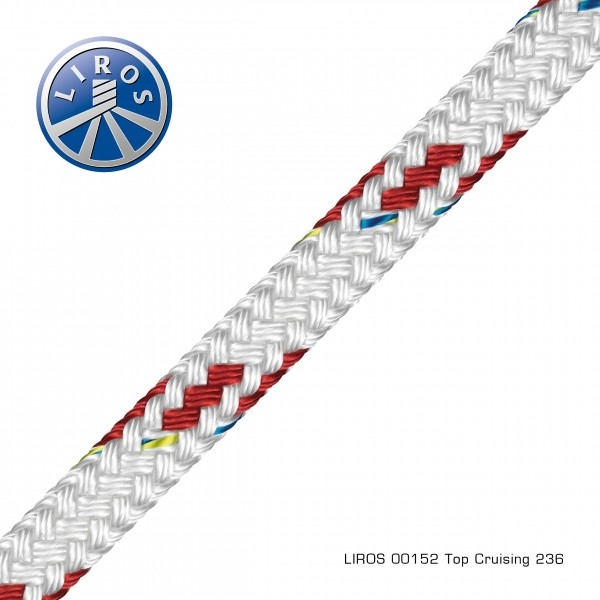 LIROS Top Cruising 10mm, weiß-rot