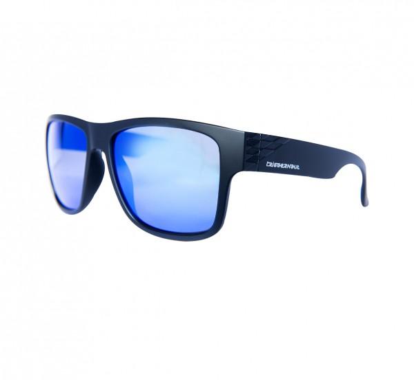 """Lifestyle Sonnenbrille HARPER """"Raven Black"""", blau/weiß verspiegelte Gläser"""