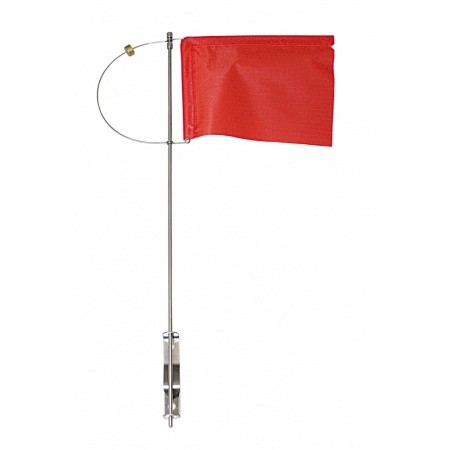Verklicker mit rotem Tuch, 125mm, Seitenhalter und Gegengewicht