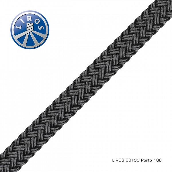 LIROS PORTO Festmacher und Ankerleine, 10mm, schwarz